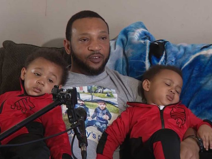 Single father, twins share love online amid pandemic struggles