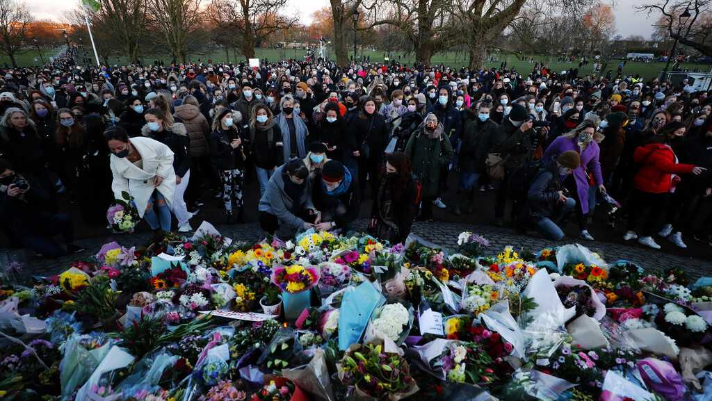 Criticism directed toward London police tactics at vigil for slain woman