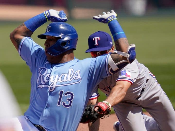 Michael Taylor again stars at plate as Royals beat Rangers 11-4 | FOX 4 Kansas City WDAF-TV