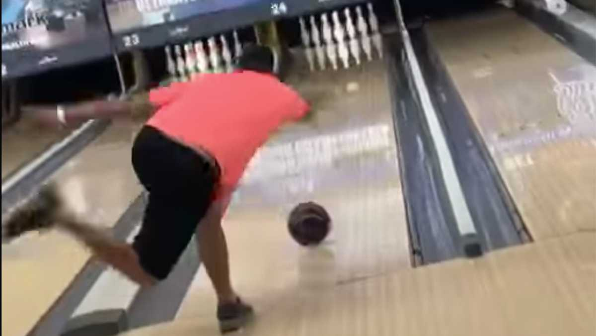 Illinois man bowls perfect game with his father's ashes inside the ball