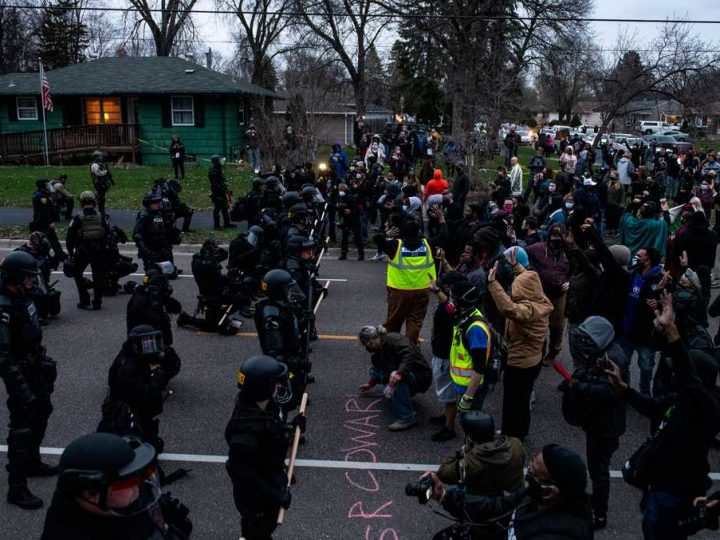 Police fire tear gas, gunshots heard, in second night of protests after fatal shooting of Minnesota Black man