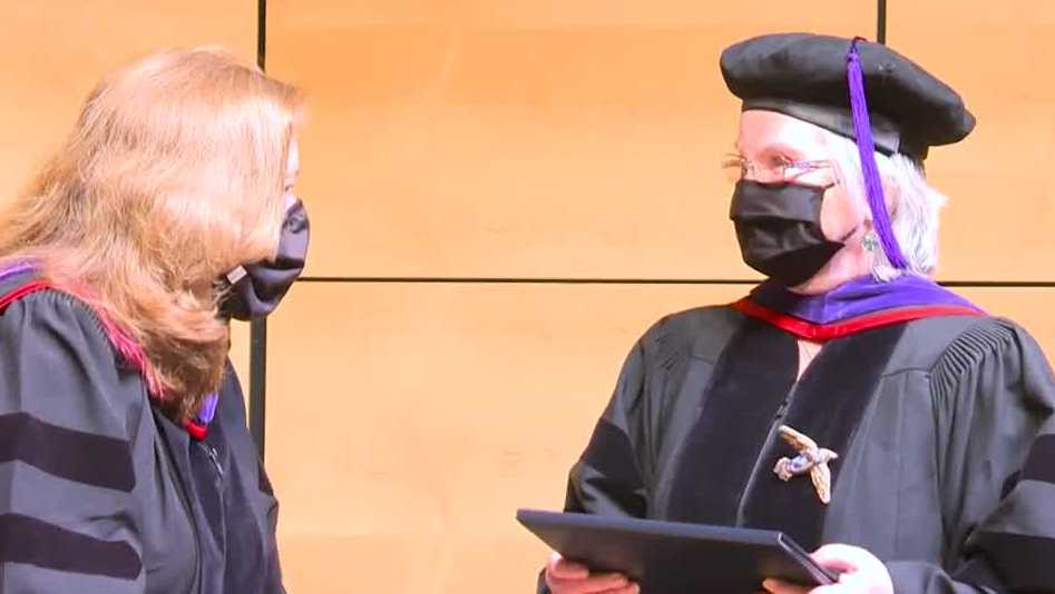 Gold star mom finishes law degree at age 60, fulfilling a goal three decades in the making