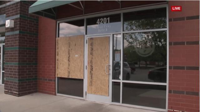 Kansas City Dominos on Blue Parkway damaged in shooting