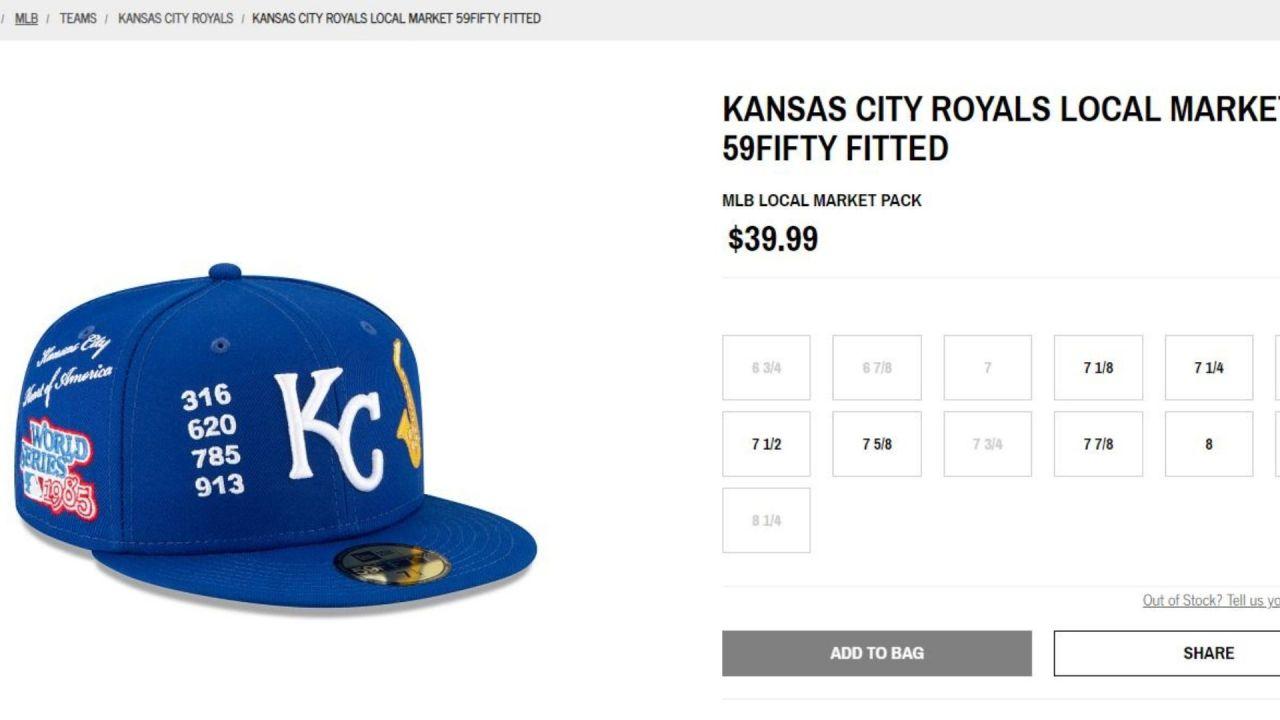 New Era's Kansas City Royals hat omits 816 area code