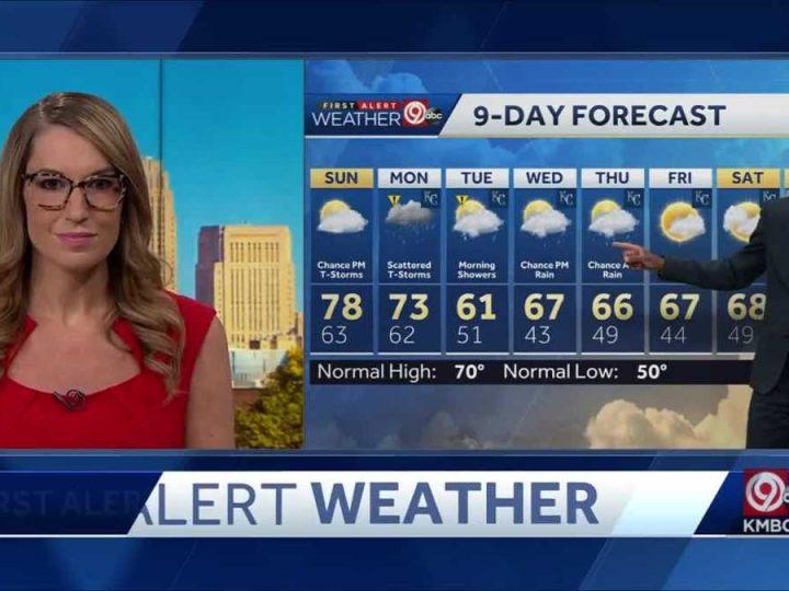 Sunday will start warm, rain possible starting Sunday afternoon