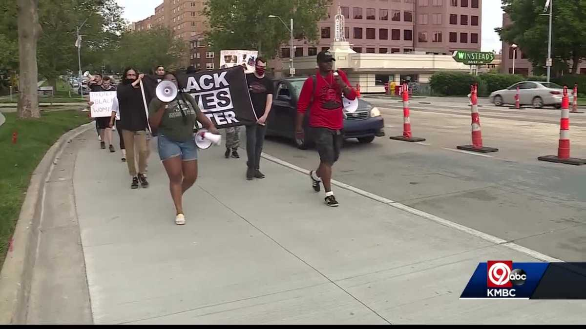Kansas Citians hold memorial march in honor of George Floyd
