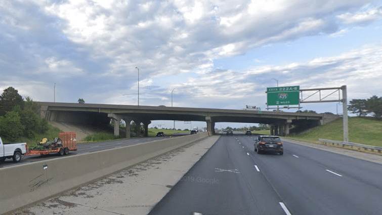 Construction paused on 119th Street bridge at I-35 after reports of falling debris