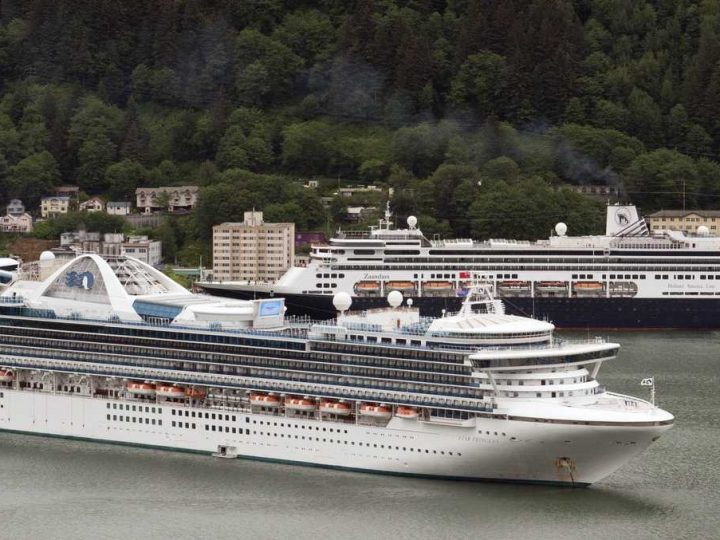 First big cruise ship allowing US passengers sets sail a year after the pandemic shut down the industry