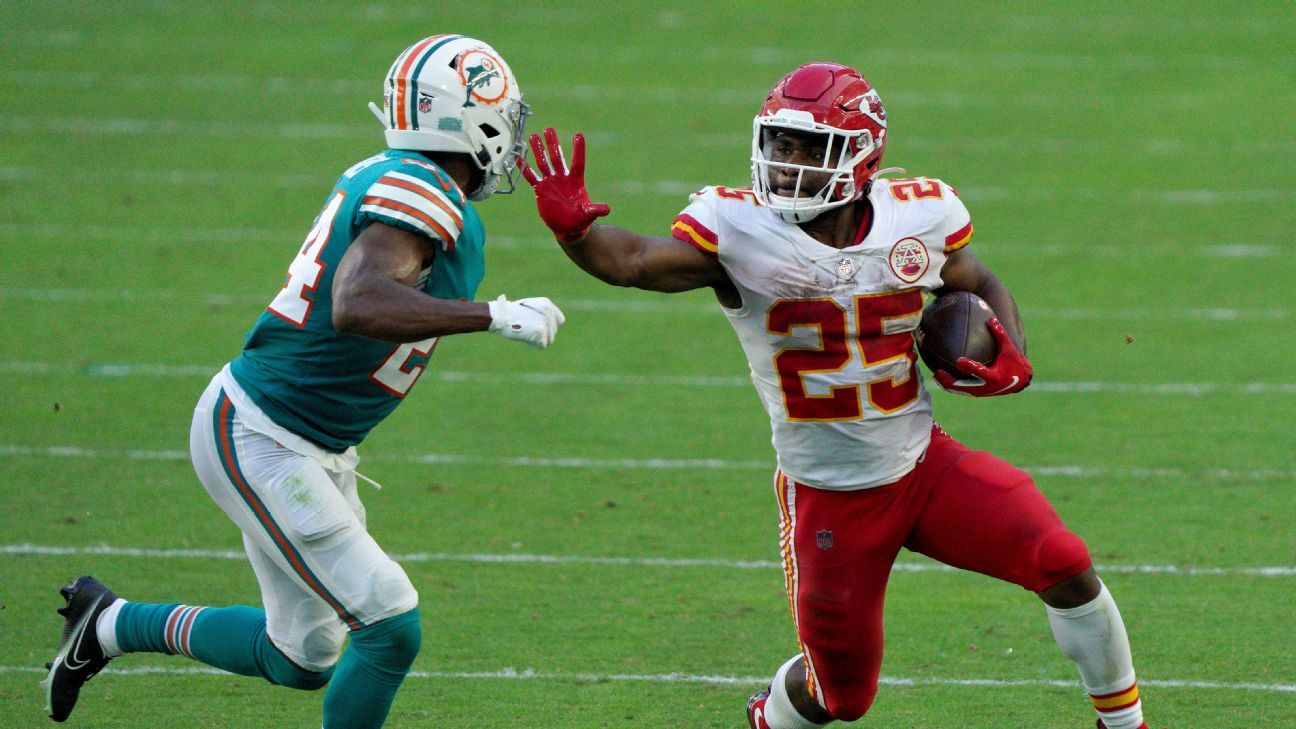Kansas City Chiefs confident in their running backs without Le'Veon Bell – NFL Nation