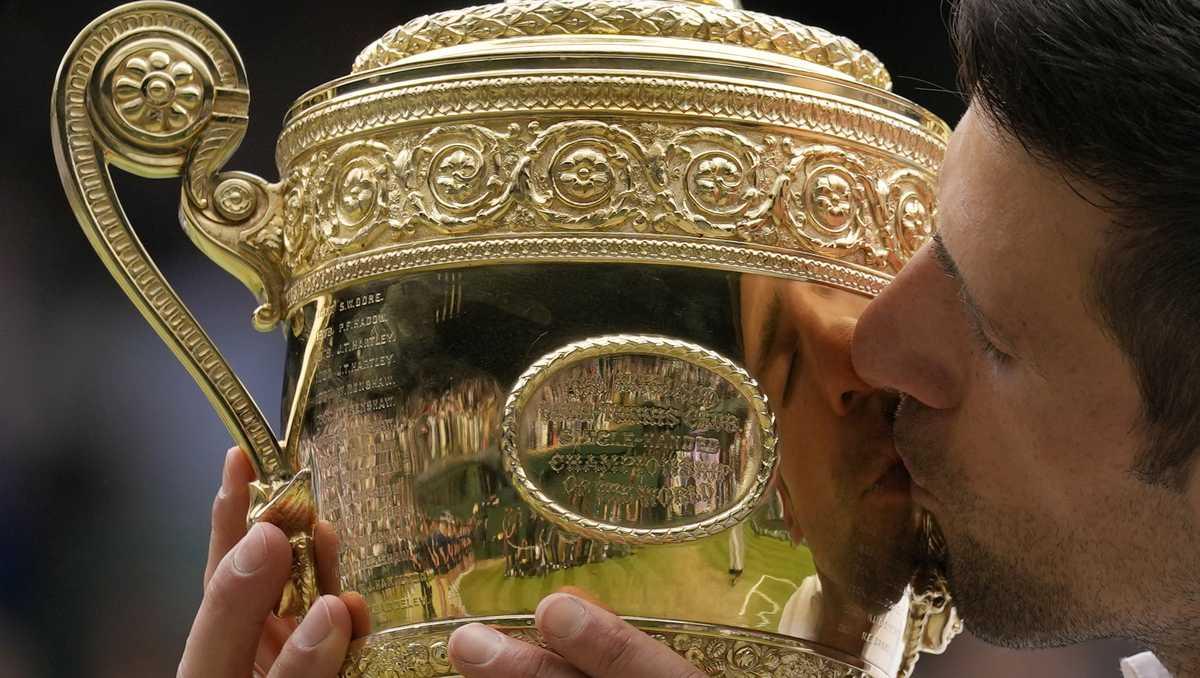 Djokovic wins Wimbledon to tie Federer, Nadal