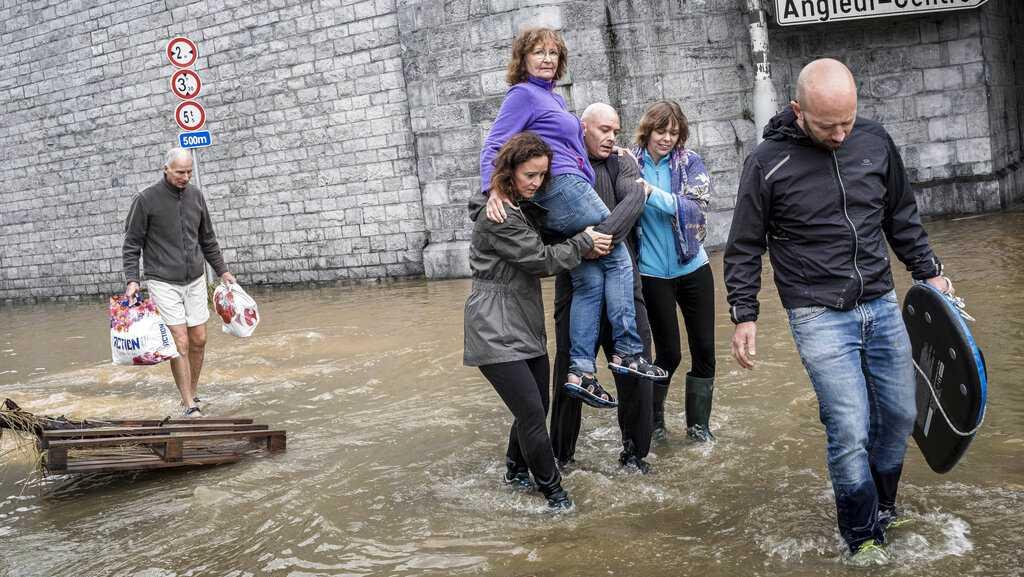 At least 150 dead in European floods as waters recede