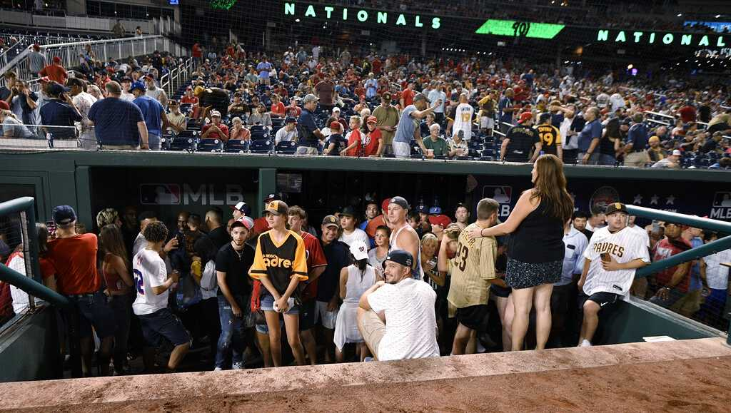 Players in Nationals, Padres game recall scene after shots fired outside park