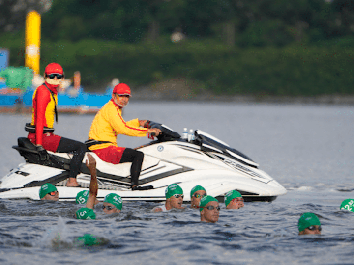 Triathlon at Olympics forced to restart when boat gets in way