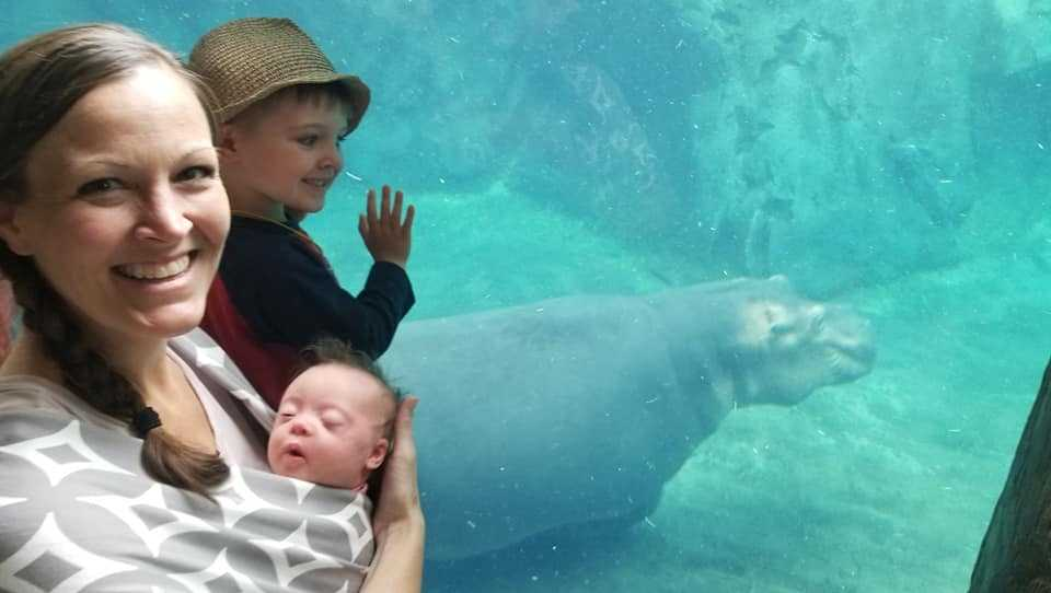 Baby named after Fiona the hippo meets Fiona at Cincinnati Zoo